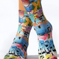 10095_Lady Socks Love Graffiti