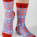 8717_Lady Socks Smiling Hearts