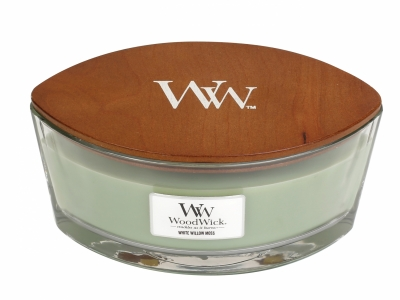 Woodwick Hearthwick Flame_White Willow Moss