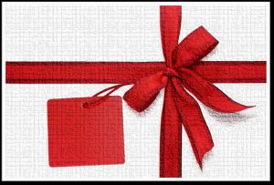Willkommen-Geschenkschleife